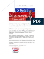 The Democrats Picked Defiore but the People Want Bartlett