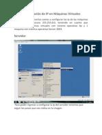 Configuración de IP en Máquinas Virtuales