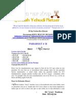 Parashat Emor # 31 Adul 6013