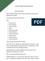 Cuestionario Sobre Preparacion Base