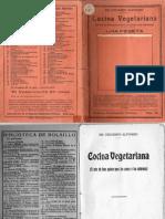004- Cocina Vegetariana Del Dr Eduardo Alfonso de Aprox 1930
