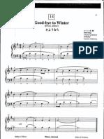 Suzuki Piano School Volume 1-Good-Bye to Winter