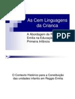 As Cem Linguagens Da Crianca