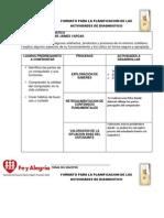 Formato Para La Planificacion de Las Actividades de Diagnostico