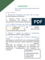 Cuestionario Software