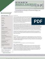 ltrc project capsule_13_2p a comprehensive study on pavement edge line implementation