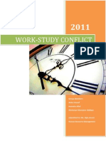 work study conflict