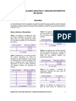 MANEJO DE LA BALANZA ANAL+ìTICA Y AN+üLISIS ESTAD+ìSTICO DE DATOS