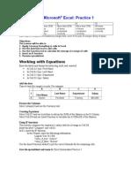Excel Practice Activities