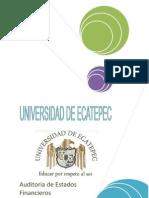 Auditoria de Estados Financieros ( Entregar )