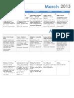 3-D Shapes Unit Pacing Calendar