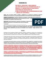 USAC Negligencia y Maltrato a Los Animales en La Granja Exper. Agosto 2012