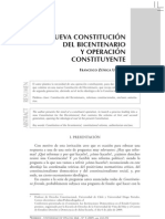 nueva constitucion del bicentenario y operacion constituyente - zúñiga