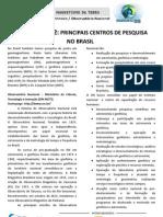 4.2.2 - Principais Centros de Pesquisa No Brasil