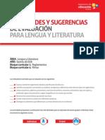 Lengua Literatura Quinto Ano