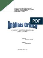 TEORÍA Y DISEÑO CURRICULAR (Análisis Crítico).docx