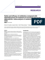Safety and Efficacy of Antibiotics Compared With