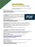 Cursos y Diplomaturas 2013