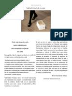 Explicación de la Caja de Zapatos Vacía, de Gabriel Orozco