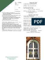 April 28 2013 Bulletin