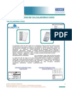 Catalogo Calculadoras Graficadoras Casio