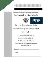 Cuaderno Con Actividades y Apuntes de NTICx 2013