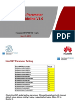3G Huawei New Sites Parameter Setting Guideline V1.0
