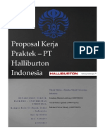 Proposal KERJA PRAKTEK - PT. Halliburton Indonesia - Universitas Indonesia