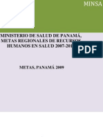 Metas en Salud de La Republica de Panama 2007-2015