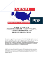 Other Synthetics Bill Status and Regulation Update 02282013