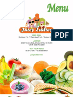 Juicy Lady Menu