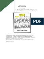 Obituaries for Hawayo Takata
