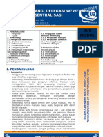 9. Wewenang, Delegasi Wewenang Dan Desentralisasi
