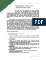 Pedoman Penulisan Jurnal Keuangan Publik