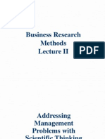 business research methods - Addressing Management Problems With Scientific Thinking
