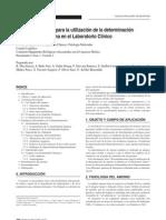 Urgencia-I-Recomendaciones para la utilización de la determinación de amonio en plasma en el laboratorio Clínico (2007)