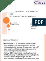Ppt Ocm India Ltd.
