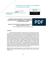Battery Energy Storage and Power Electronics Based Voltage and Frequency Controller For