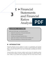 Topic 3 Financial Statement and Financial Ratios Analysis