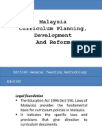 Development of Malaysian School Curriculum