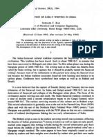 Subhash Kak Evolution of Writing in India, IJHS 29(3) 1994