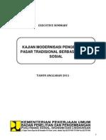 Kajian Modernisasi Pengelolaan Pasar Tradisional Berbasis Modal Sosial