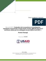 Burundi Enquete Couverture MILDAs Campagnes 2009