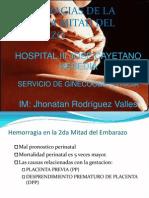 Hemorragia de La 2da Mitad Del Embarazo