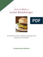 How to Make a Great Hamburger