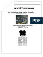 Air Pollution From Motor Vehicles - Management of Environment Report