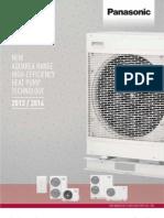 Catalog Pompe de Caldura Panasonic AQUAREA - 2013