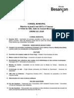 Ordre Du Jour CM Besancon 2 05 2013