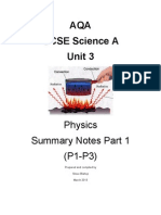 GCSE Science A Unit 3 Physics P1.1-P1.2