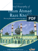A Brief Biography of Imam Ahmad Raza Khan (Alehe Rehma) [English]